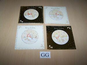16 Christmas Cards & Envelopes - 4 designs - Winnie the Pooh - 13.5 x 13.5cms