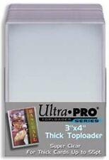 """Ultra Pro Toploader 3""""x4"""" 55pt Action Packed Card Holder 25 Pack-Top Loader Case"""