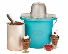 Nostalgia Electrics Qt Ice Cream Maker Machine Automatic Churning Frozen Yogurt