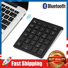 Wireless Bluetooth Number Pad 28-Key Numeric Keypad Keyboard Extensions