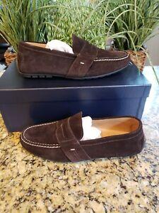 Ralph Lauren Hayward Dark Brown Suede Moccasins Loafers Size 11 Men