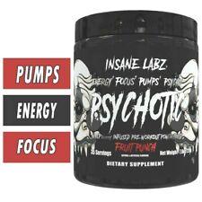 Insane Labz PSYCHOTIC BLACK Pre-Workout 35 Servings PICK FLAVOR