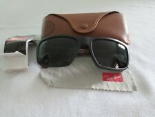 Ray Ban black / burgundy frame sunglasses. With case. RB 4228 6228/71.