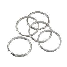 Large (Bead) Split-Rings/Keyring Silver 25mm Pack of 5 (C64/6)