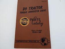 CATERPILLAR D9 TRACTOR TORQUE CONVERTER DRIVE PARTS CATALOG FORM 31517 SER 19A1