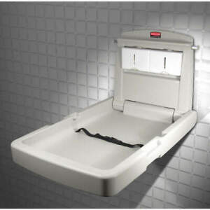 RUBBERMAID COMMERCIAL PRODUCTS FG781988LPLAT Changing Station,Vertical,23x34-1/8
