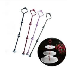 2/3Tiers Cake Cupcake Plate Stand Handle Hardware Fitting Holder Silver Crown;