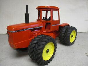 Custom (1980) Highway Orange John Deere Model 8640 4WD Toy Tractor, 1/16 Scale
