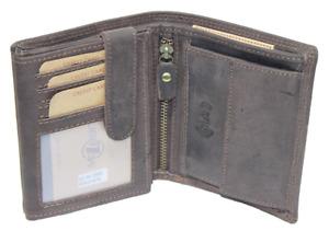 RFID / NFC Geldbörse Kombibörse Naturleder Brieftasche Geldbeutel Büffelleder