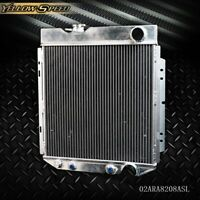 62mm Aluminum Racing Radiator For 64-66 FORD MUSTANG/SHELBY V8 L6 MT/AT