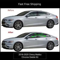 Chrome Delete Blackout Overlay for 2016-20 Chevrolet Chevy Malibu Window Trim