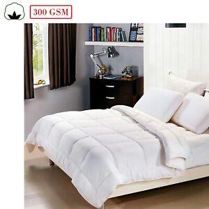 100% Cotton 300gsm Summer Weight Doona / Quilt / Duvet MACHINE WASHABLE