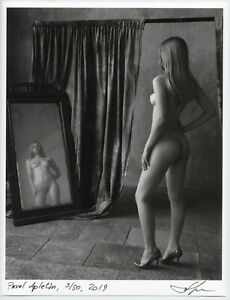 Study with a mirror by Pavel Apletin, pigment print signed limited fine art