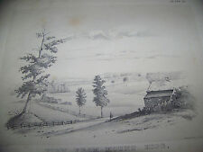 c1850 MOUNT HOPE FARM ROCHESTER NY VICTORIAN STONE LITHO PRINT MONROE COUNTY