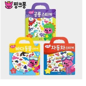 Pinkfong Dinosaur/ Sea Animal/ Car Bag Sticker Reusable Repeatable 3 Types