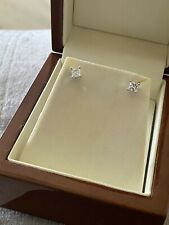 9ct White Gold 0.50ct Real Diamond Earrings
