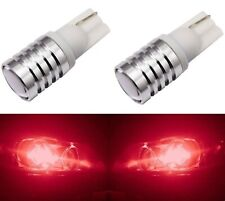 LED Light 5W Red 194 Two Bulbs Front Side Marker Parking Show Use Replace JDM