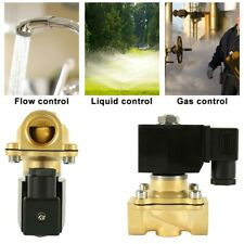 220V ZS-20 Electric Solenoid Valve Air Water Gas Oil Brass Normally Closed 2 Way