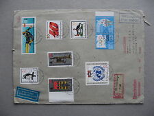 GERMANY DDR, R-cover to the Netherlands 1985, rich franking ao S/S bridge Berlin