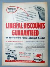 10x14 Original 1956 Mobil Ad BEAT THE MARKET NOW .. LIBERAL DISCOUNTS GUARANTEED