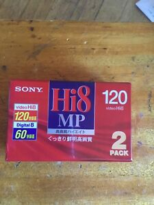 Sony Hi8 MP Digital 8 Tapes From Japan 2 Pack