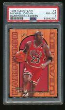1995 Fleer Flair Hardwood Leader #4 Michael Jordan PSA 8 NM-MT Bulls HOF