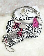 Coach Poppy Floral Graffiti Groovy Handbag Style#14734 W/Matching small WRISTLET