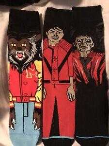 "Michael Jackson ""Thriller"" Socks - 3 Pair - Men's Size Large NWT"