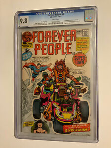 FOREVER PEOPLE 1. FIRST DARKSEID CGC 9.8 WP! HIGHEST GRADE.