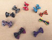 Handmade Bow Tie for Dog Stars Comic Rainbow Pride Tartan Halloween Stars