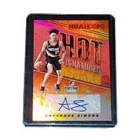 2018-19 Panini NBA Hoops Hot Signatures Autograph Auto #AS Anfernee Simons RC