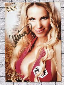 Annina Ucatis Erotik Model original signierte AK Autogrammkarte