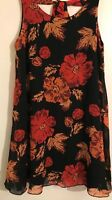Black floral dress Star by Julien MacDonald Size 10,12
