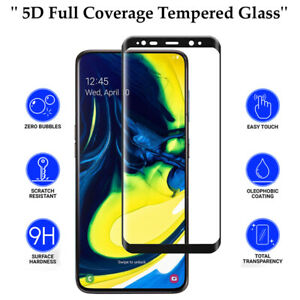 5D Anti Scratch 9H Tempered Glass Screen Protector for Samsung Galaxy A80