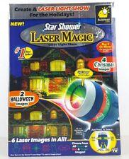 Star Shower Laser Magic Laser Light Show 2 Halloween & 4 Christmas Images New