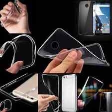 Ultra Thin Slim Crystal Clear Transparent Soft Silicone TPU Case Cover for phone