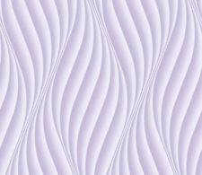 Vliestapete 3D-Optik Wellen vertikal lila Wandtapete Wohnzimmer 0,75m x 10m XXL