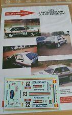 DECALS 1/18 REF 1075 LANCIA DELTA BERNARDINI ROTHMANS RALLYE TOUR DE CORSE 1990