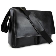 Men's Real Leather Messenger Shoulder Bag SATCHEL Cross Body Casual College