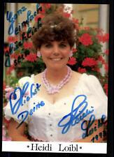 Heidi Loibl Autogrammkarte Original Signiert ## BC 10994