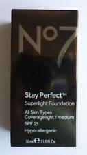 No7 STAY PERFECT SUPERLIGHT FOUNDATION 30ml  SHADE : Mocha