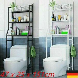 3 Regal über der Toilette Badezimmer Metall Handtuch Aufbewahrungsregal Organize