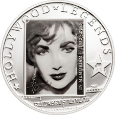 COOK ISLANDS Inseln 2011 Liz Elizabeth Taylor Hollywood Legends $1 UNC CuNi #T