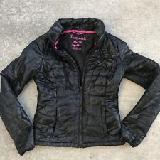 Aeropostale Womens XS Black Puffer Jacket Lightweight