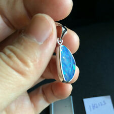 Doublet OPAL pendant set Sterling Sliver 925 coated with Rhodium(White) 1.83G