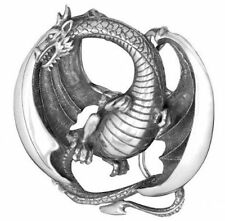 Flying Dragon Pewter Belt Buckle - New