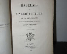 Francois Rabelais and the Architecture of the Renaissance Printed 1840 Plates