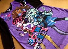 MONSTER HIGH BLACK & PURPLE LONG GOWN PAJAMA SIZE - 10/12