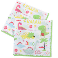 12x Dinosaur Theme Paper Napkins For Kids Birthday Party Tissue Napkin Decor EO