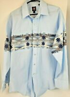 Panhandle Slim Western Cowboy Pearl Snap Shirt Southwest Aztec Size SZ Large